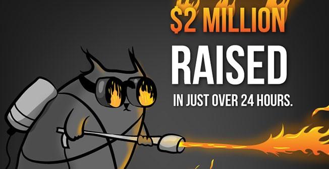 Exploding Kittens на Kickstarter