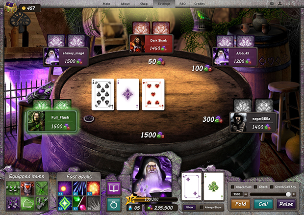 Lord of Poker игровой мир