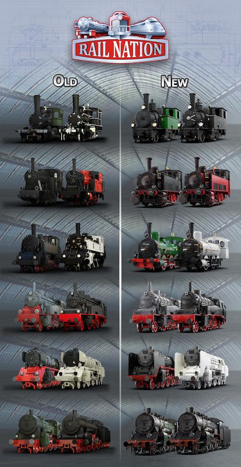 Rail Nation новые поезда