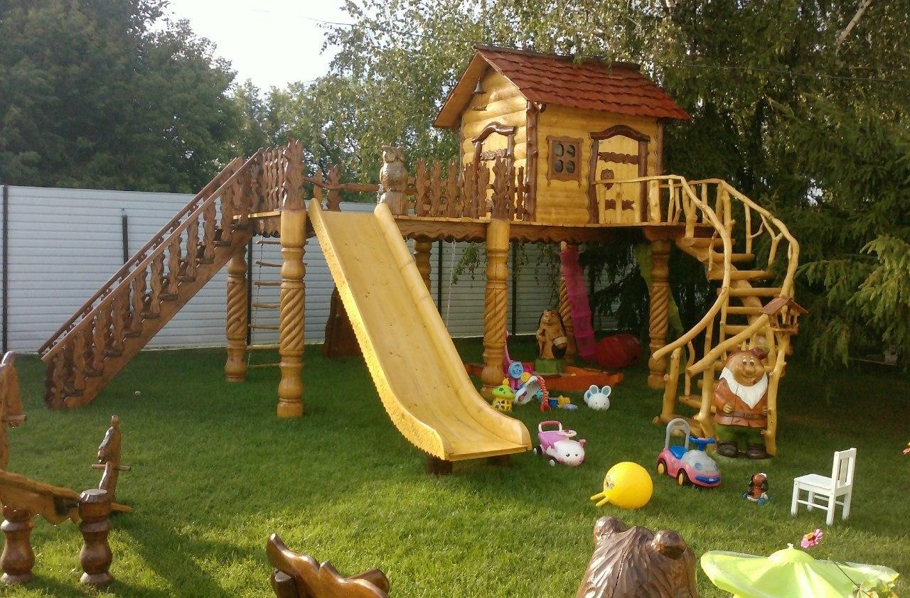 Детские площадки своими руками деревянные