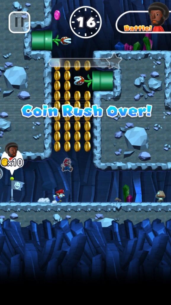Скриншот игры Супер Марио Ран